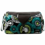 Astrid Coated Diaper Bag in Straw Daisy Lagoon