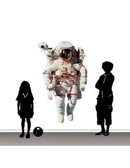 Astronaut Peel and Stick Wall Mural