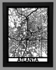 Atlanta Framed City Map