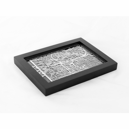 Atlanta Stainless Steel Framed Map