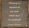 Audrey Hepburn Possible Quote Vintage Framed Art Print