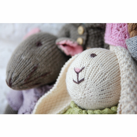 Audrey Mouse Hand-Knit Organic Stuffed Toy