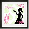 Audrey's Lovebird - Pink & Green Framed Art Print