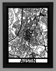 Austin Framed City Map