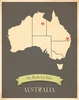 Australia My Roots Continental Map Art Print - Blue
