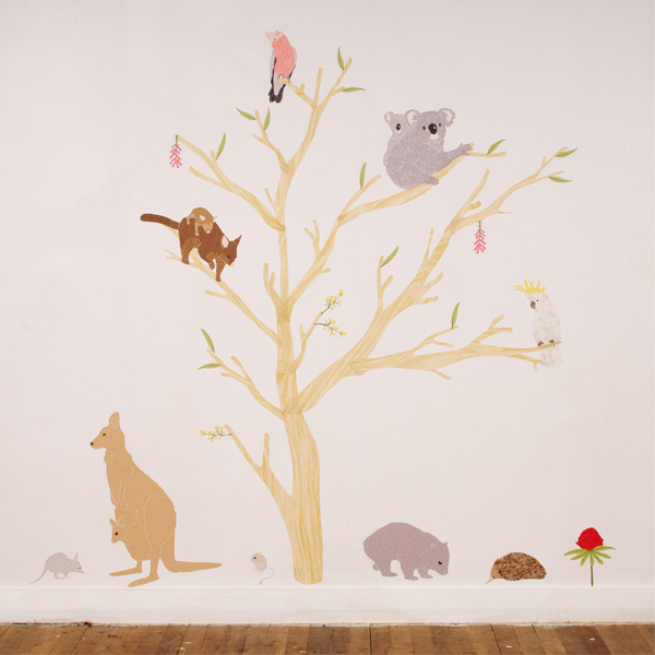 australiana fabric wall decals by love mae australian animals removable wall sticker lsb0261clr jms