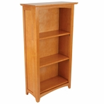 Avalon 3-Shelf Bookcase - Honey