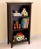 Avalon 3-Shelf Bookcase in Espresso