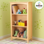 Avalon 3-Shelf Bookcase - Natural