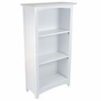Avalon 3-Shelf Bookcase - White