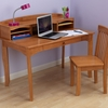 Avalon Desk With Hutch & Chair - Honey
