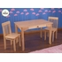 Avalon Table & 2 Chair Set in Natural