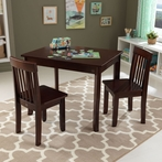 Avalon Table II & 2 Chairs Set in Espresso