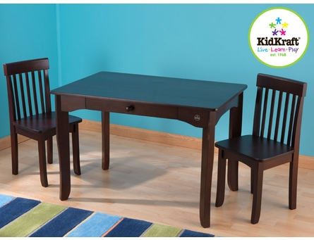 Avalon Table & Two Chair Set - Espresso