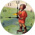 Aviation Little Boy Wall Clock