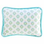 Aztec in Aqua and Gold Throw Pillow