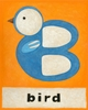 B is for Bird Orange Canvas Reproduction