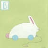 B is for Bunny Canvas Reproduction