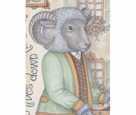 Baa Baa Black Sheep Personalized Canvas Art