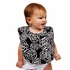Baby Bibs in Black Camellia Set of 2