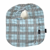 Baby Bibs in Blue Plaid Set of 2