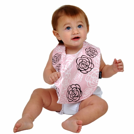 Baby Bibs in Pink Camellia Set of 2