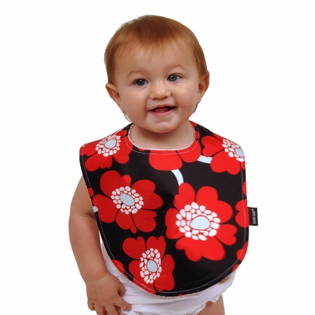 Baby Bibs in Red Poppy Set of 2