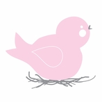 Baby Bird Nest Wall Decal