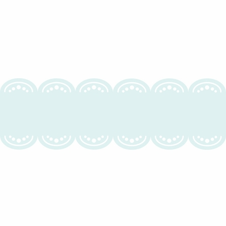 Baby Blue Baby Scalloped Stripe Wall Decal