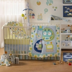 Baby Bot 4-Piece Crib Bedding Set