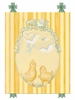 Baby Chicks Canvas Reproduction - Green