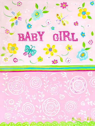 Baby Girl Floral Canvas Wall Art By Oopsy Daisy