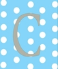 Baby Girl Initial Personalized Dots Canvas Reproduction
