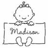Baby Girl Personalized Self-Inking Stamp