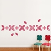 Baby Leaves in Pink Lipstick Wall Decal