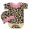 Baby Love Cheetah Rose Onesie and Cap Set