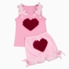 Baby Love Sweet Heart Rose Short Set