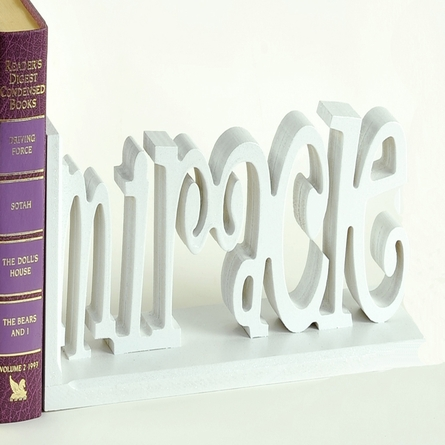 Baby Miracle Letter Bookends