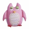 Baby Owl Pink Shaped Pillow