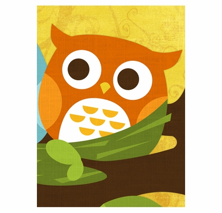 Baby Owls In Nest Canvas Reproduction