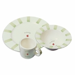 Baby Stripe Personalized Ceramic Dish Set