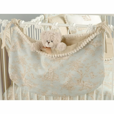 Baby Toile Blue Crib Bedding