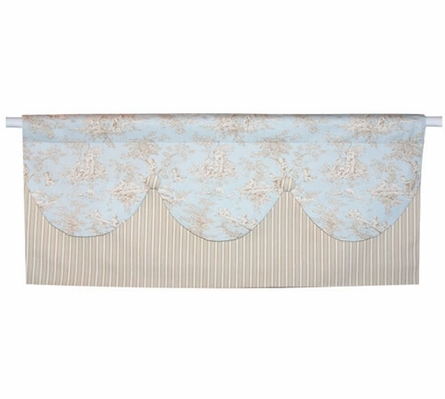 Baby Toile Blue Toddler Bedding