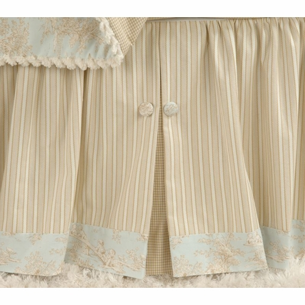 Baby Toile Crib Skirt