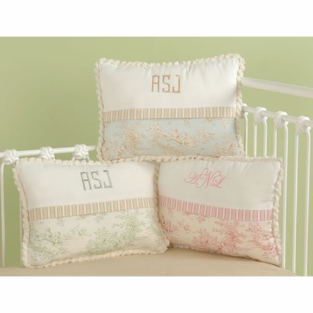 Baby Toile Pink Crib Bedding
