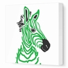 Baby Zebra Canvas Wall Art