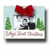 Babys First Christmas Sky Picture Frame