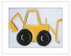 Backhoe Framed Canvas Reproduction
