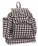 Backpack Diaper Bag in Heavenly Dots Chocolate Pink