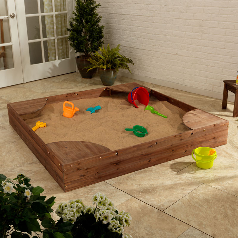 Backyard Sandbox : Backyard Sandbox  Espresso by KidKraft  RosenberryRoomscom